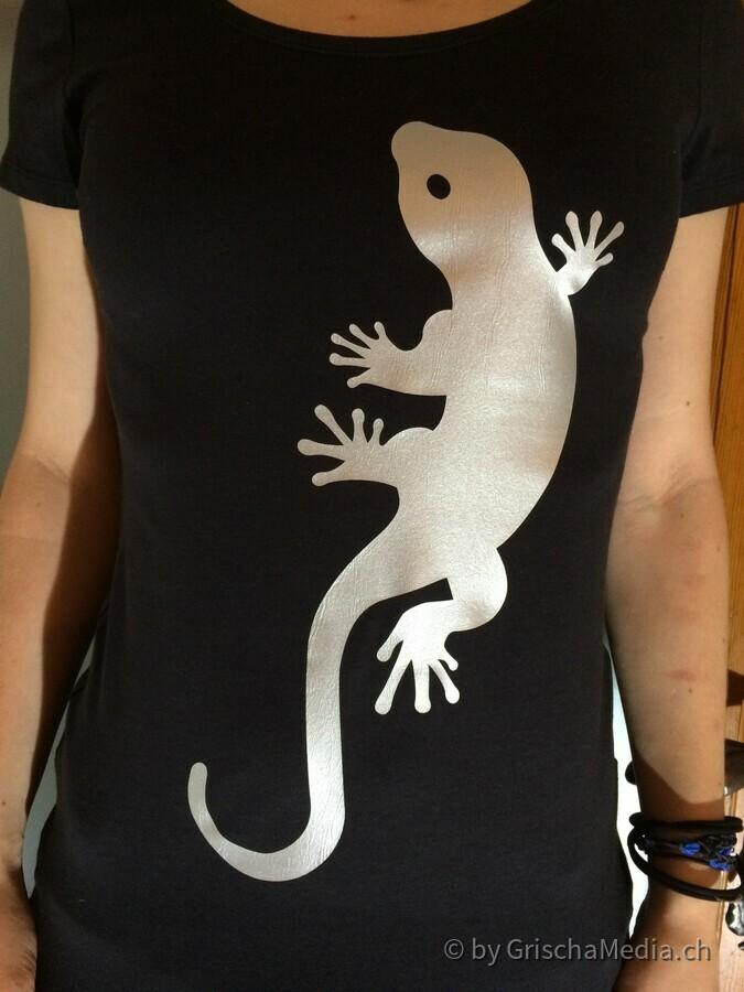 T-Shirt Eidechse
